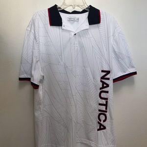 Nautica Men's 2XL White Polo Shirt
